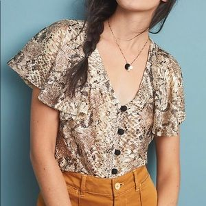 NWT Anthropology Blouse Size M!
